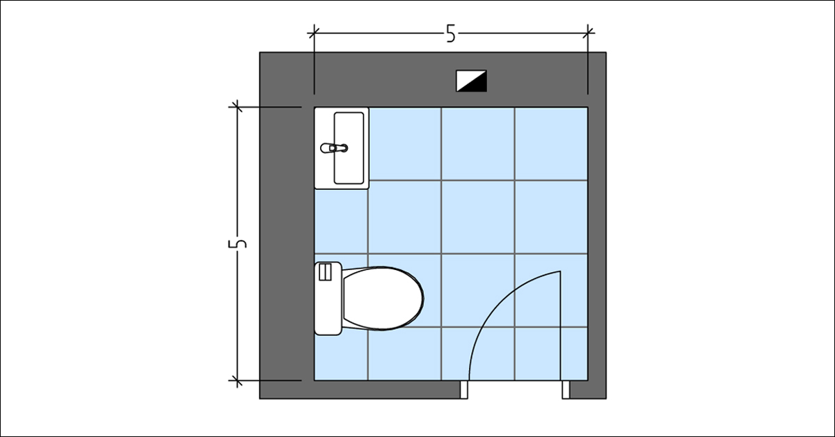 5x5 Powder Room Layout