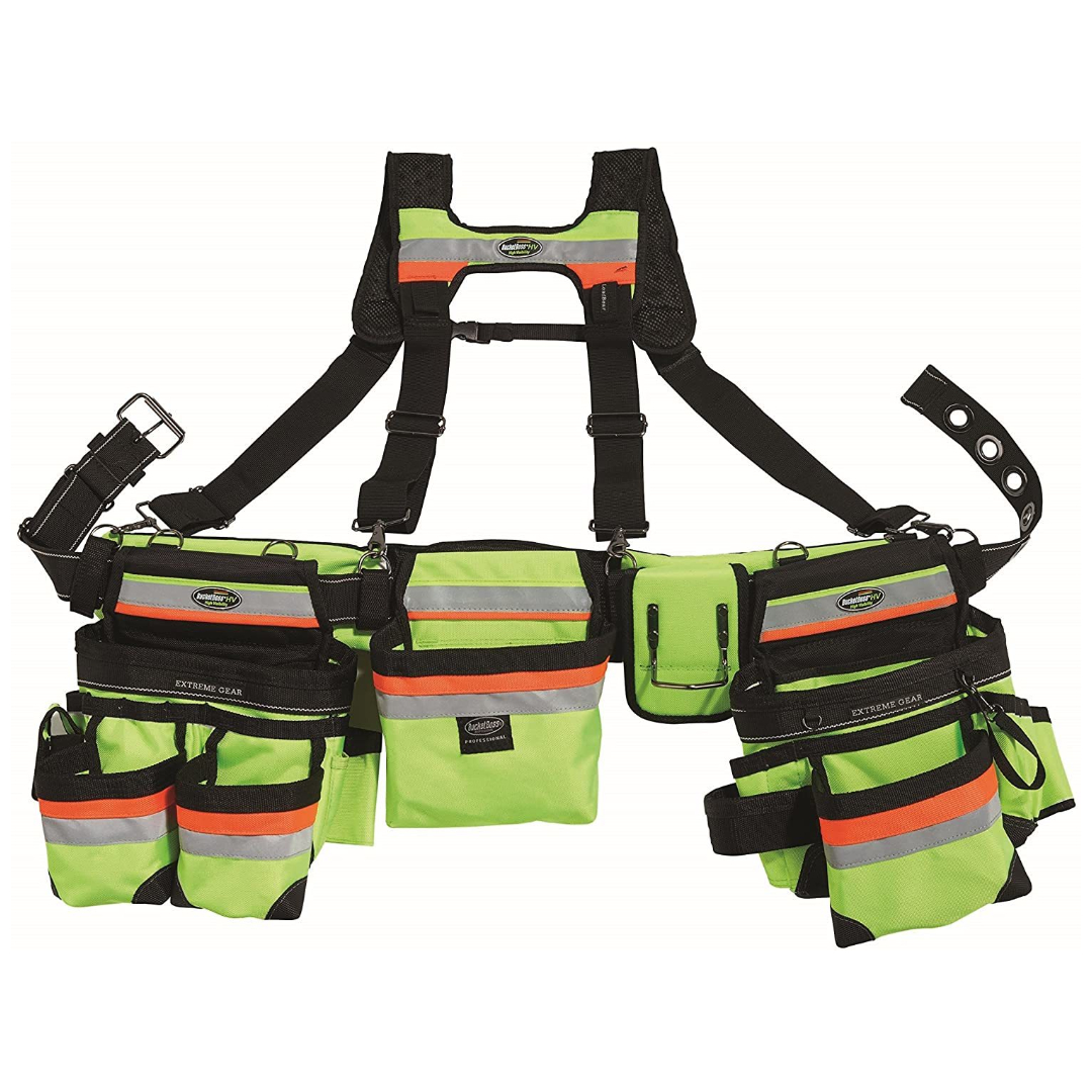 Bucket Boss 3 Bag Tool Belt 55185-HVOY