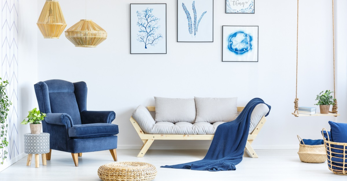 Color saturation with furniture textiles