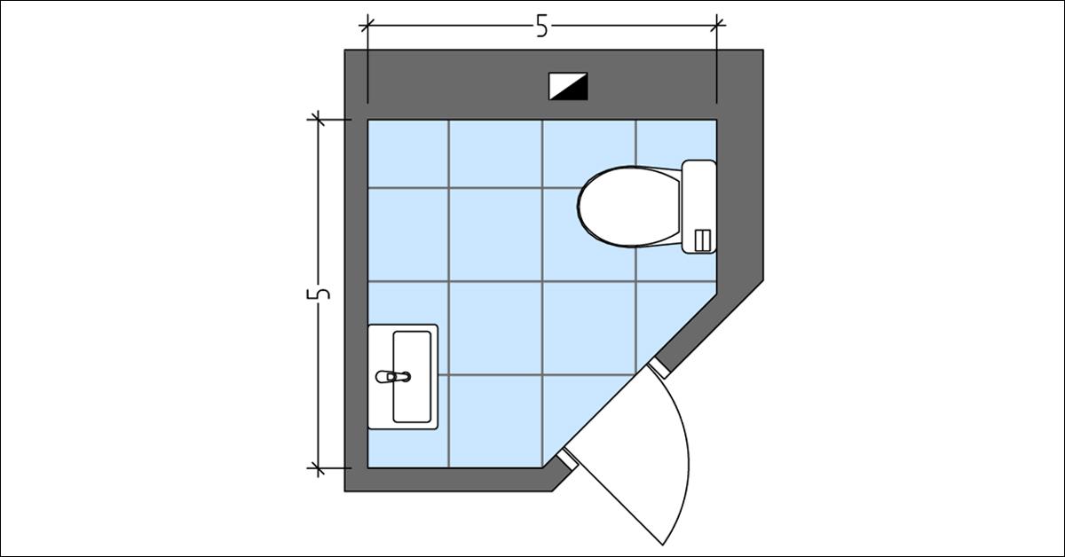 Idea for Corner Powder Room