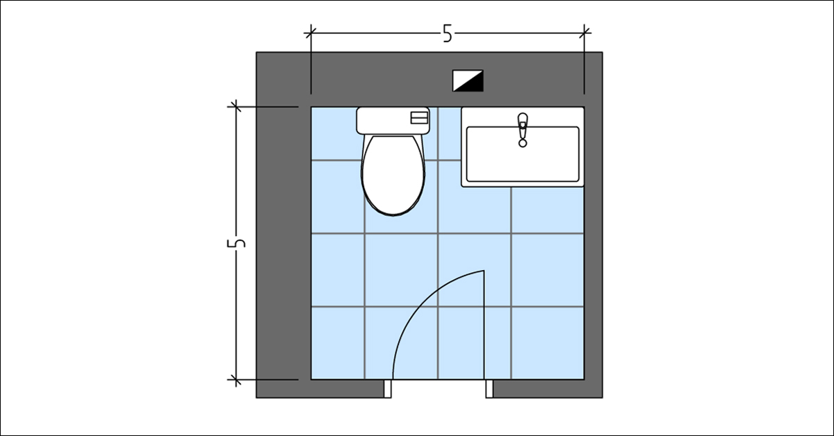 Layout Plan with Toilet and Vanity