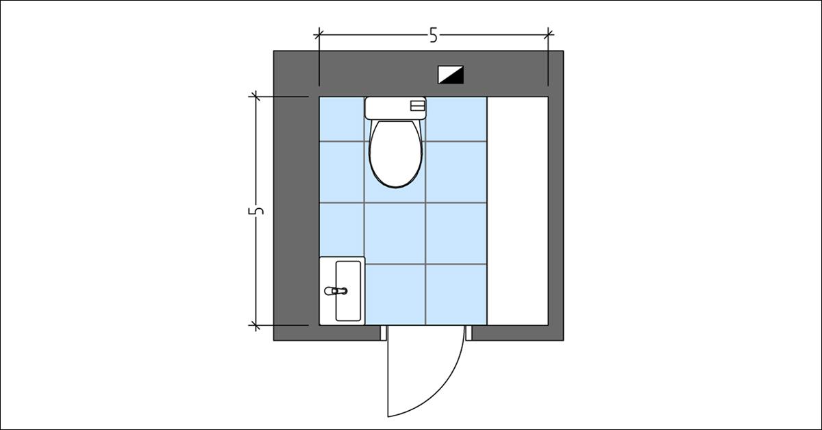 Washroom Layout with Extra Cabinet